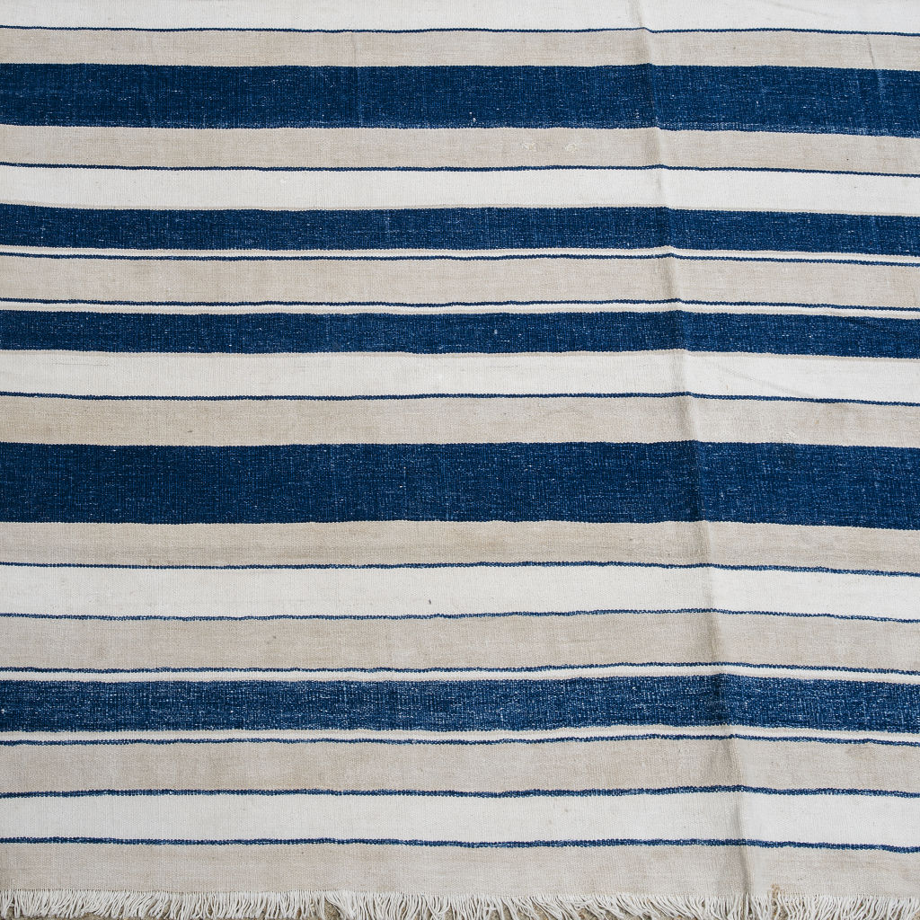 Blue and Beige Stripe