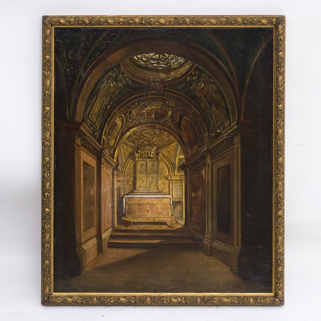 Oil Painting of Baroque Crypt