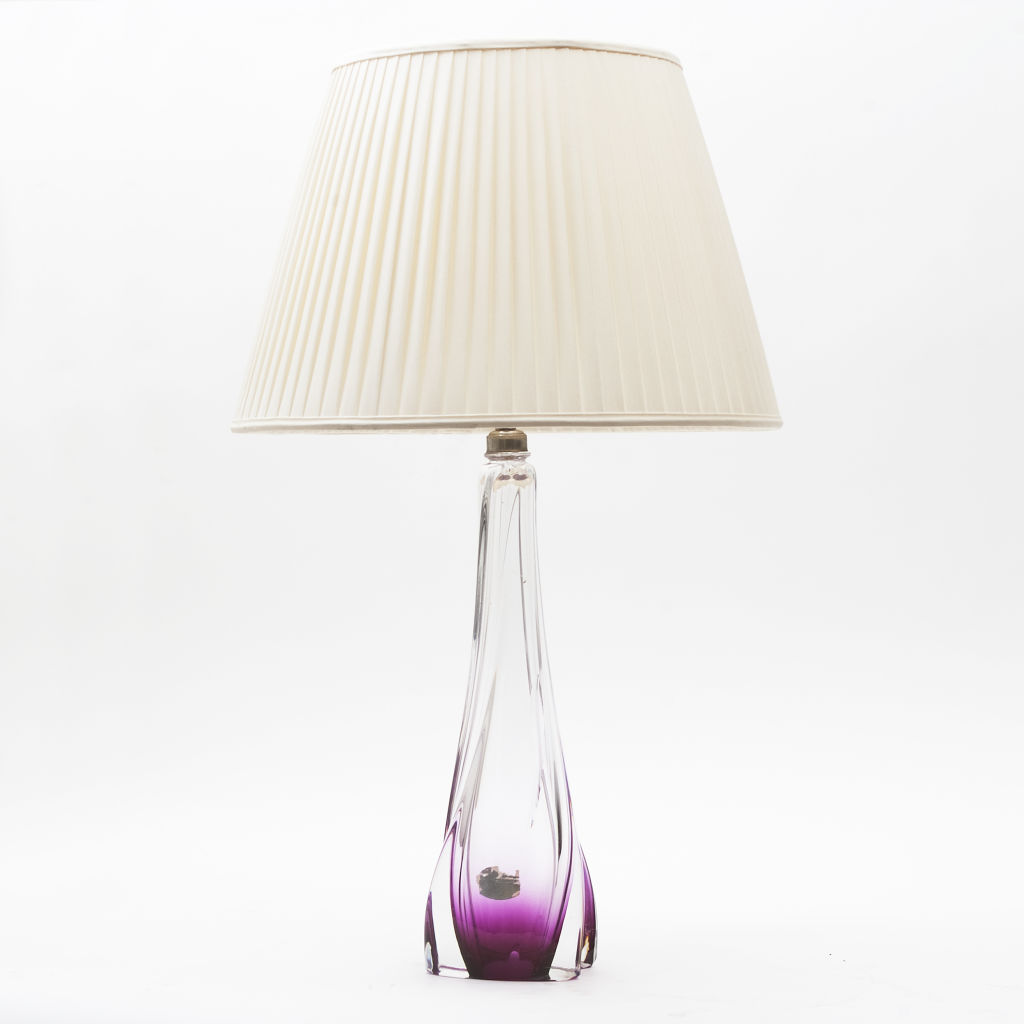 Purple Val St Lambert Lamp