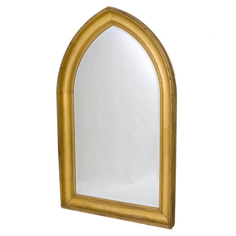 English Gothic Style Giltwood Mirror