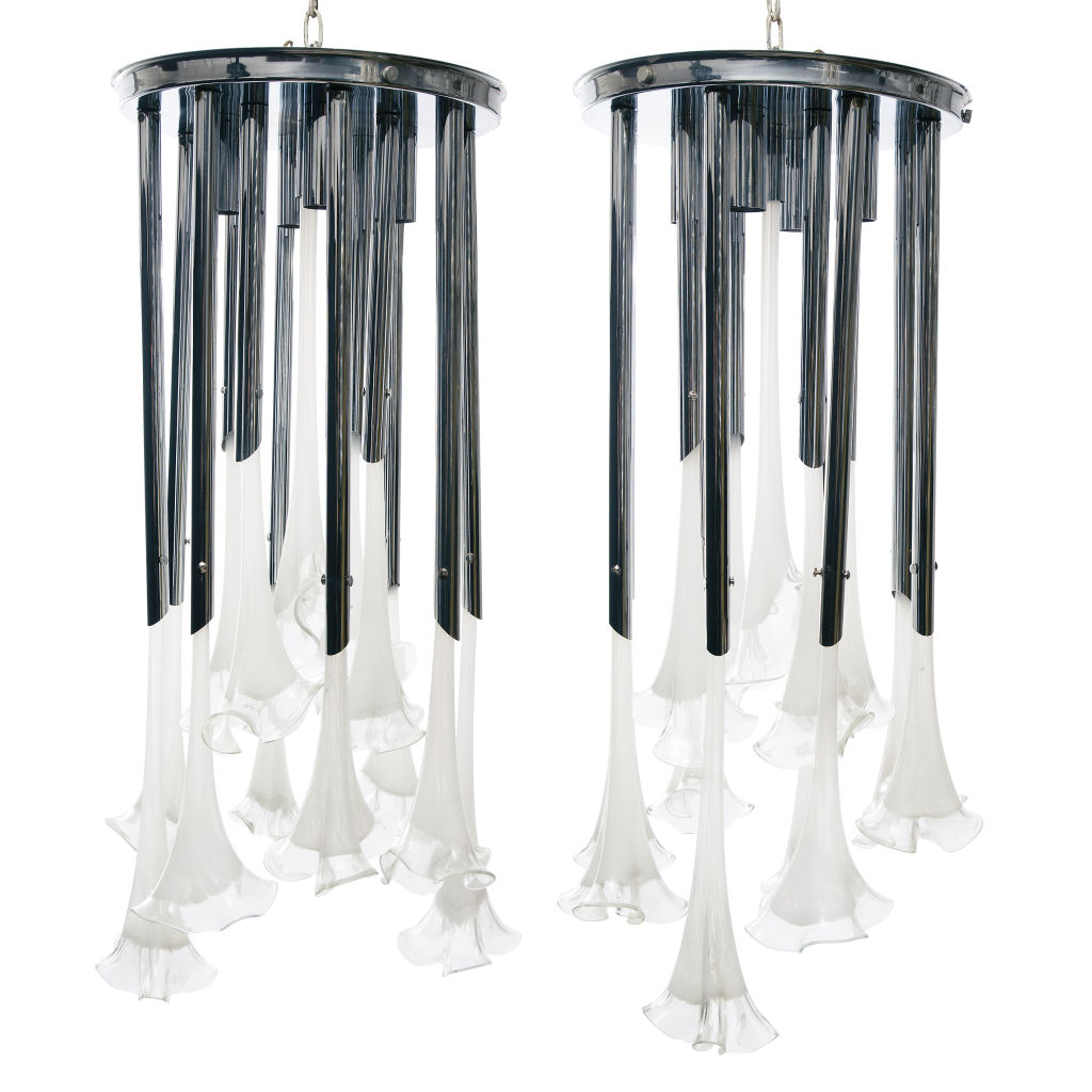 Pair Mazzega Chandeliers