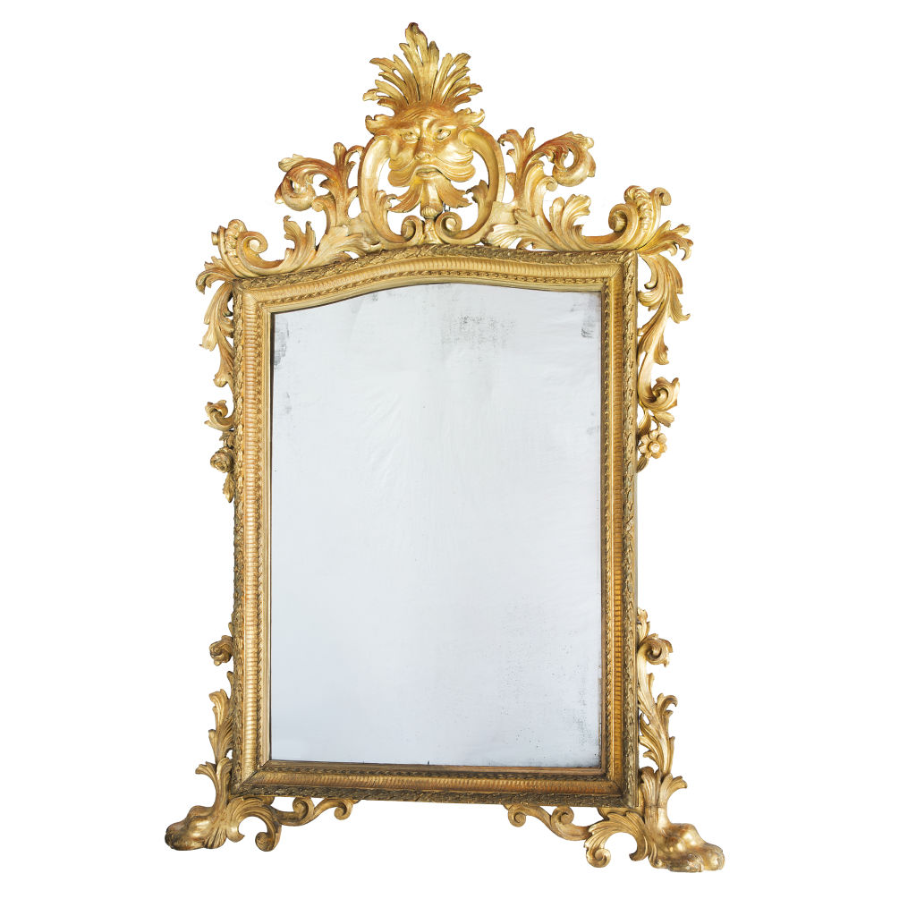 Large Italian Mirror With Mask