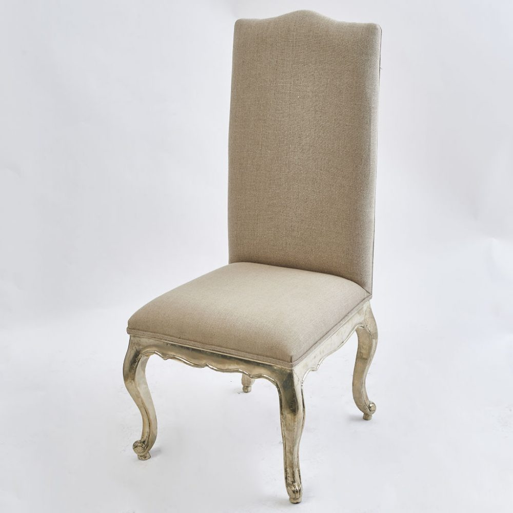 French Provincial Style Silvered Dining Chair
