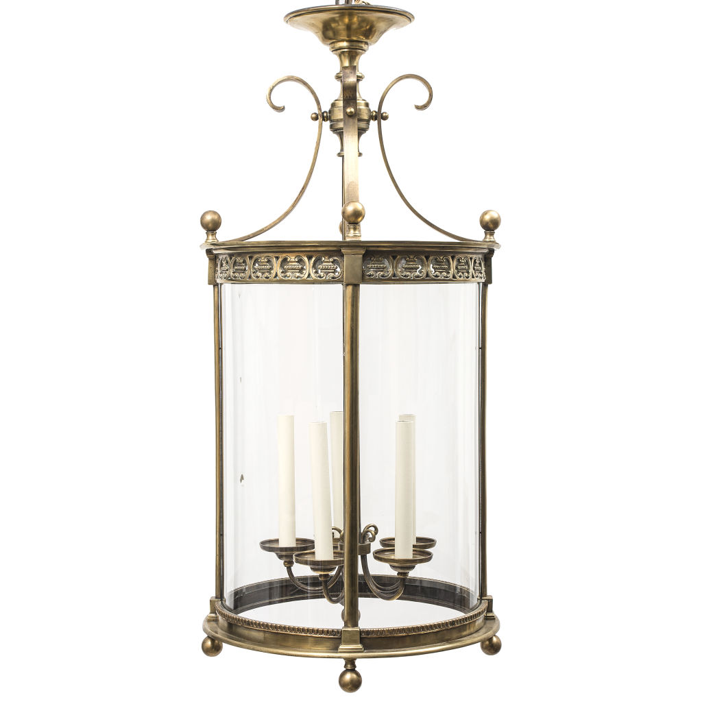 French Neoclassical Bronze Lantern