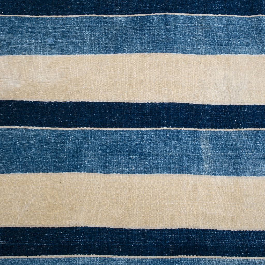Blue and Cream Stripe