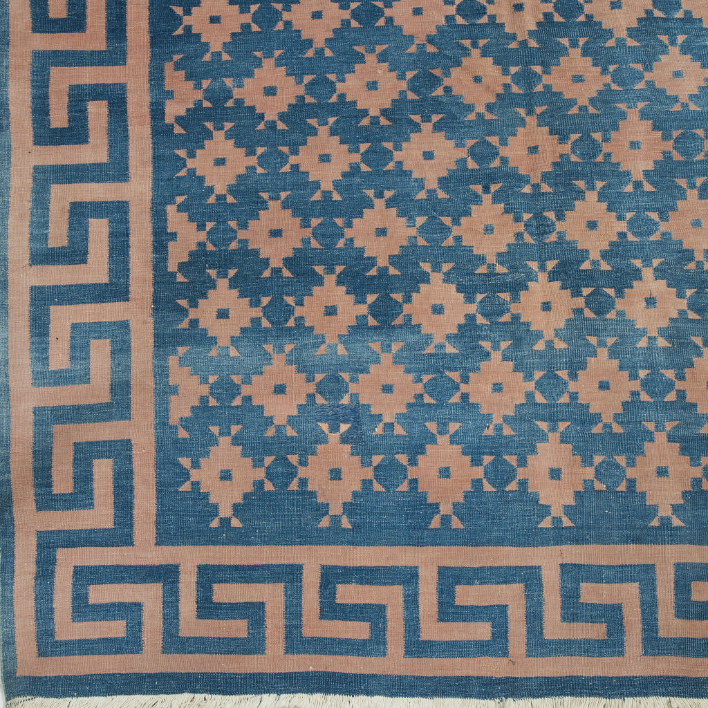 Indigo and Terracotta Dhurrie