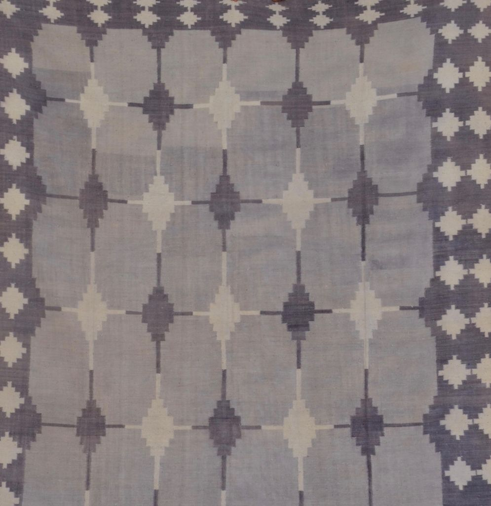 Grey Tiled Dhurrie