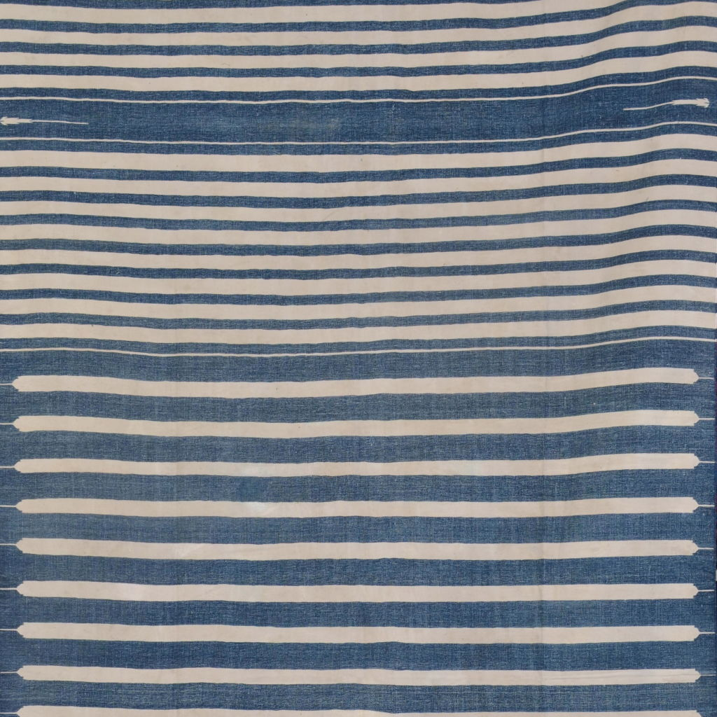 Long Blue and White Stripe Dhurrie