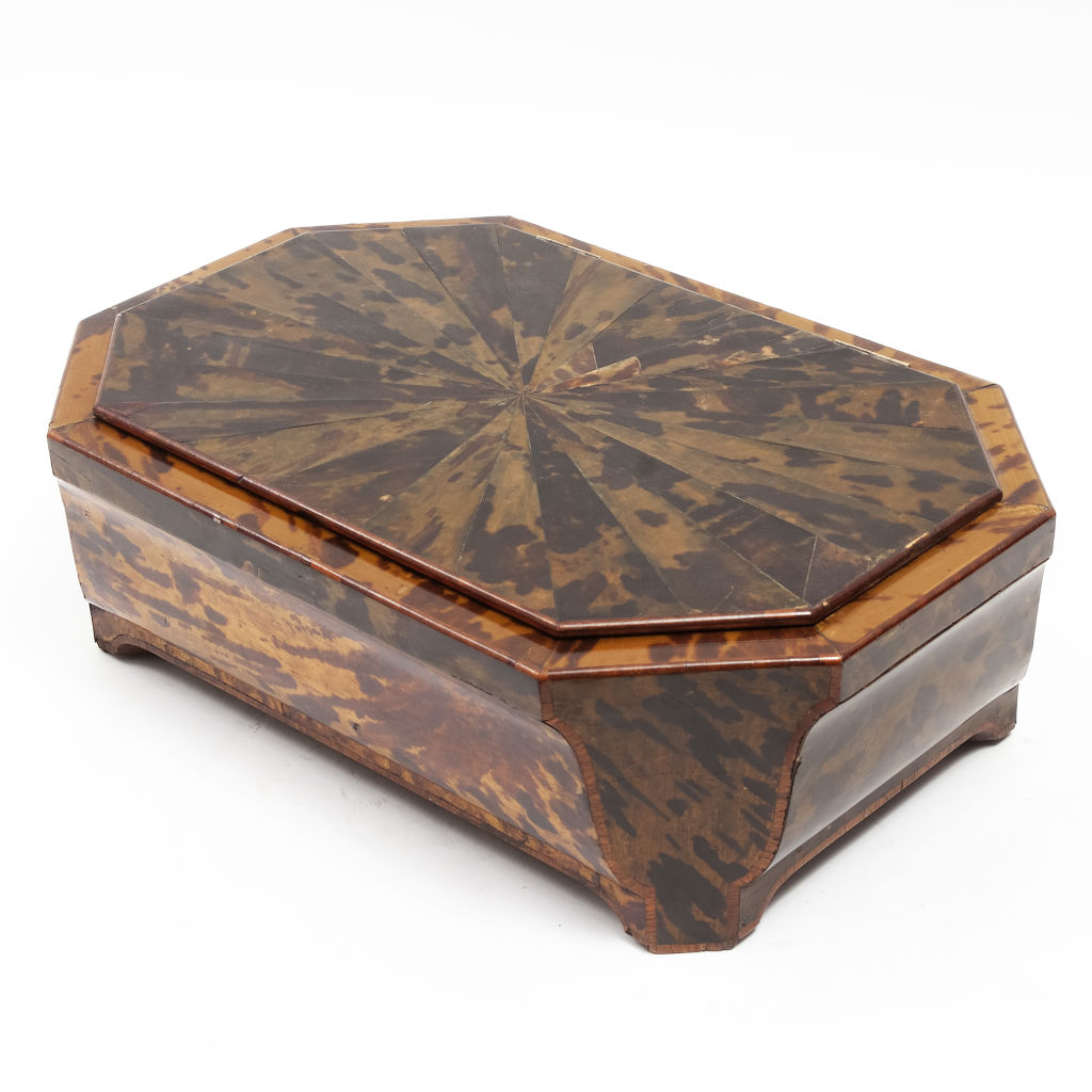 Large Flemish Tortoiseshell Work Box