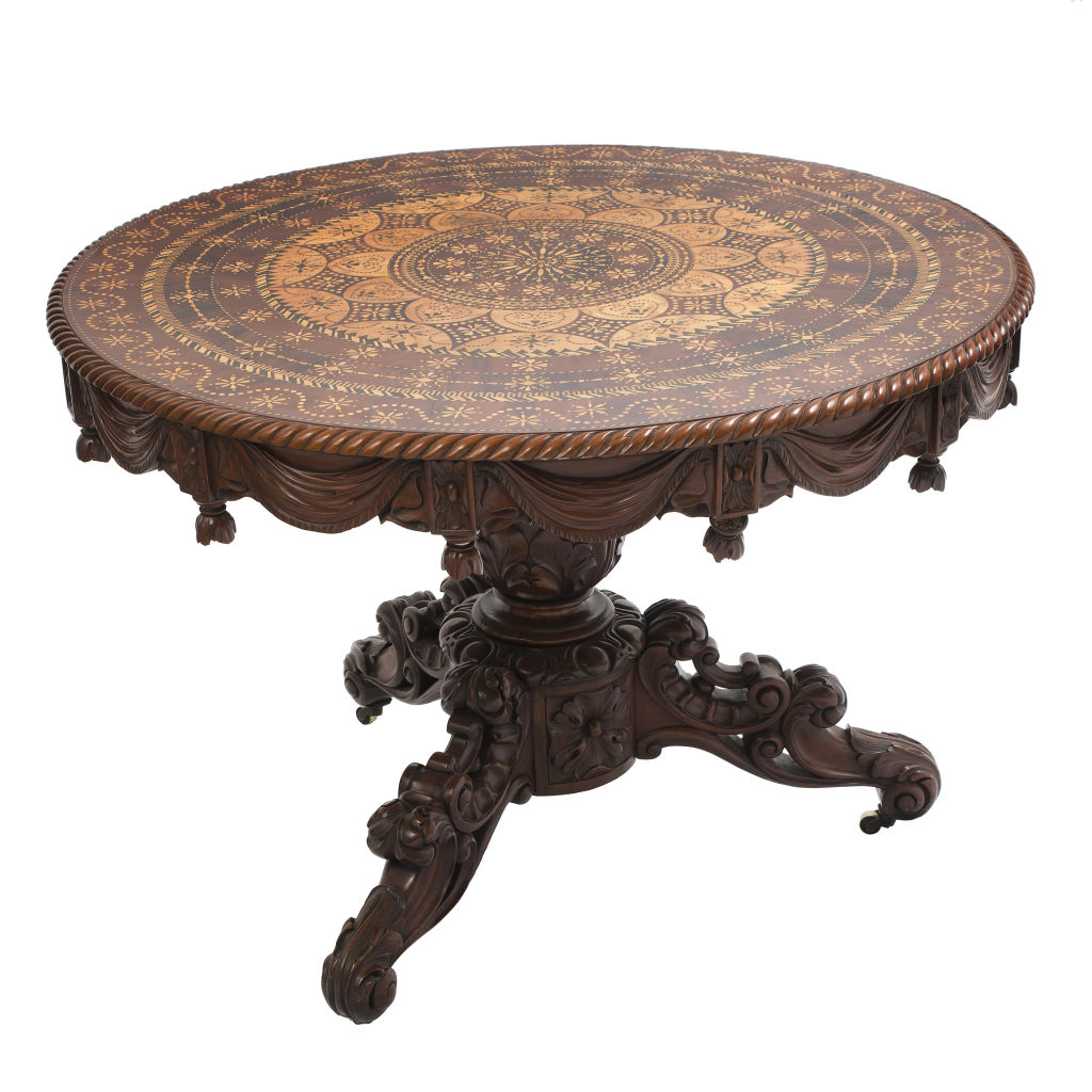 Mahogany Inlaid Table