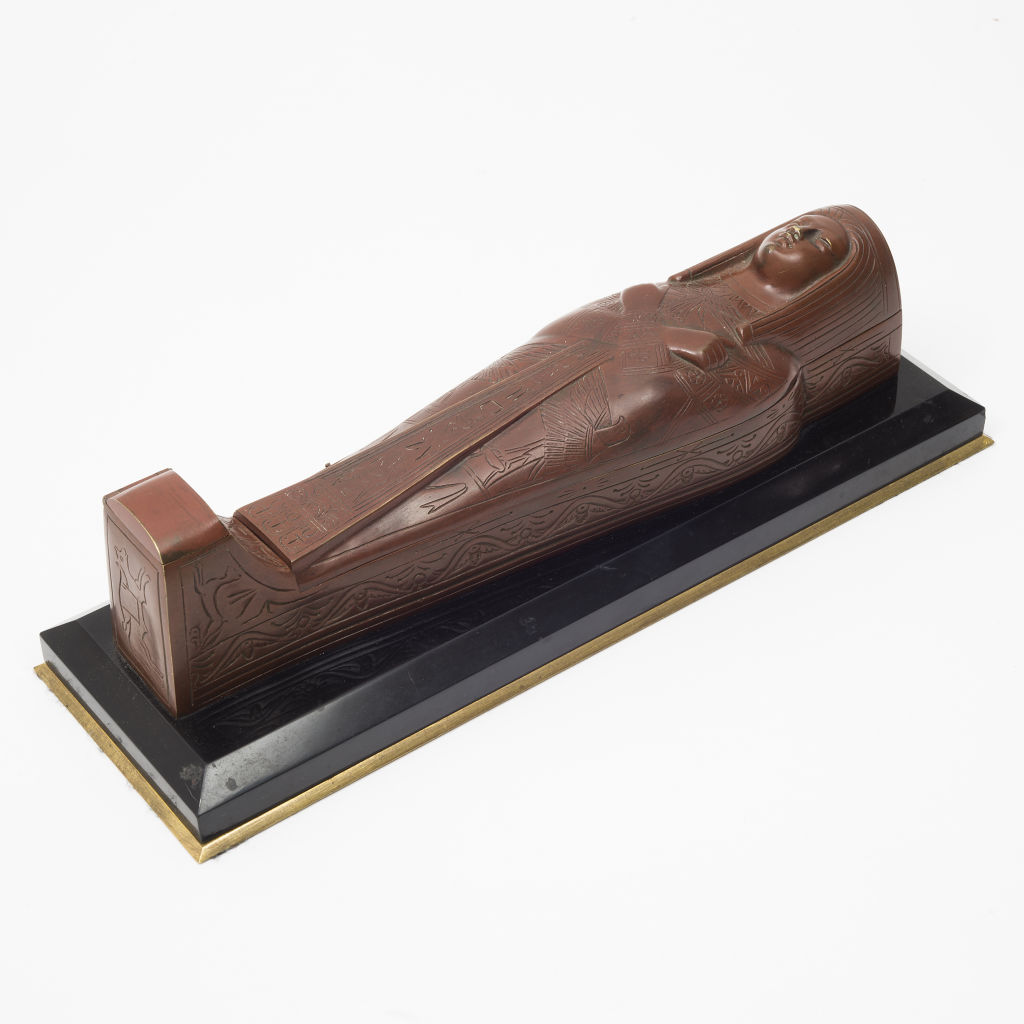 French Bronze Sarcophagus Inkstand