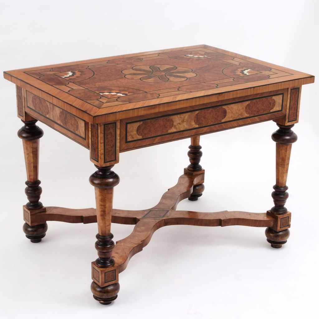 Dutch or Belgian Parquetry Table