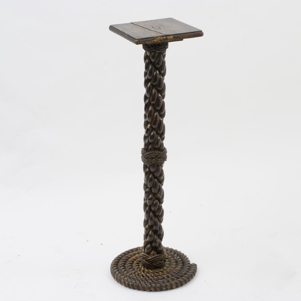 English Oak Rope Stand