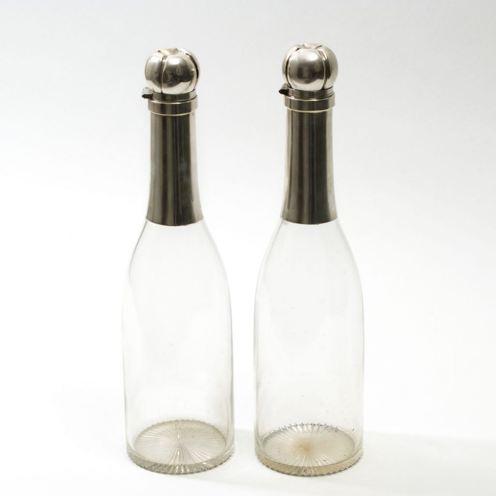 Pair German Champagne Bottles