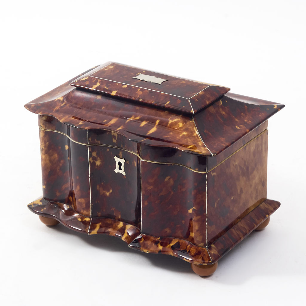 William IV Tortoiseshell Tea Caddy