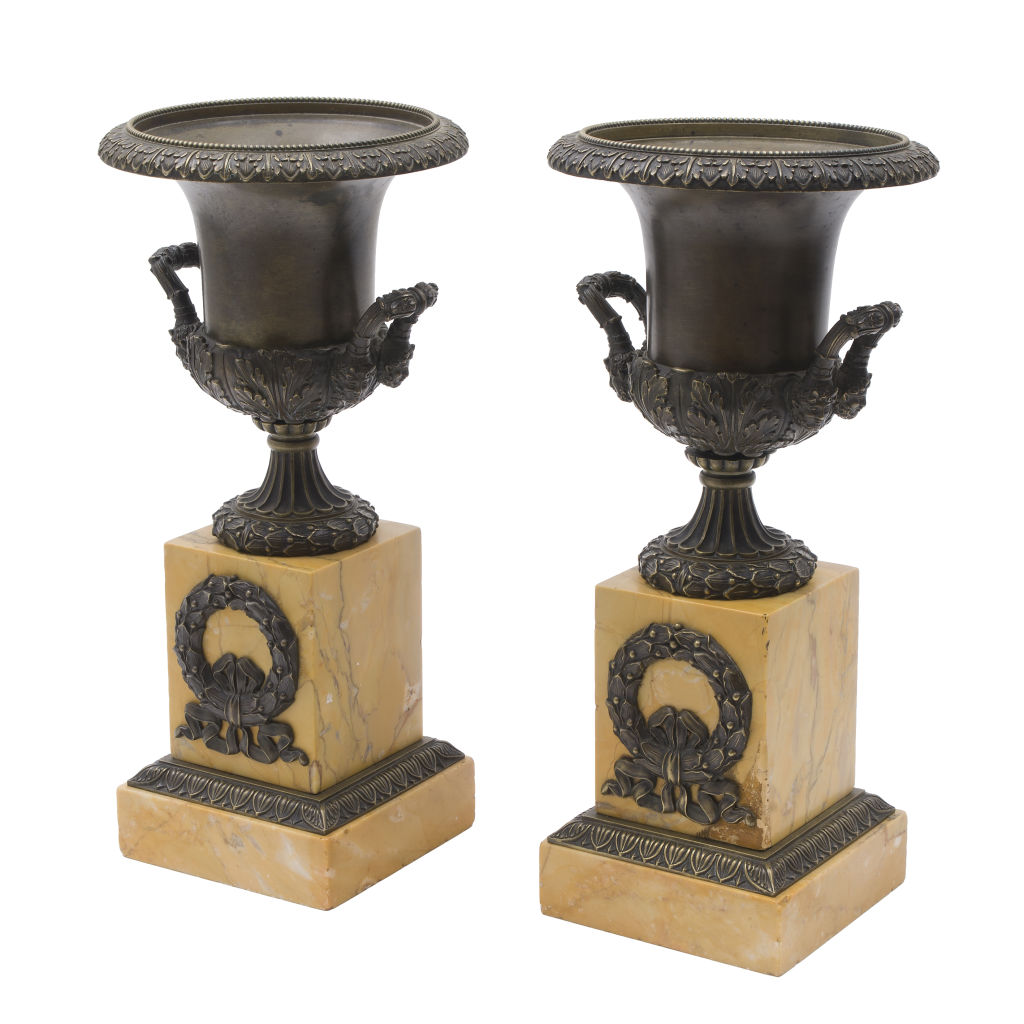 French Bronze Campana Urns