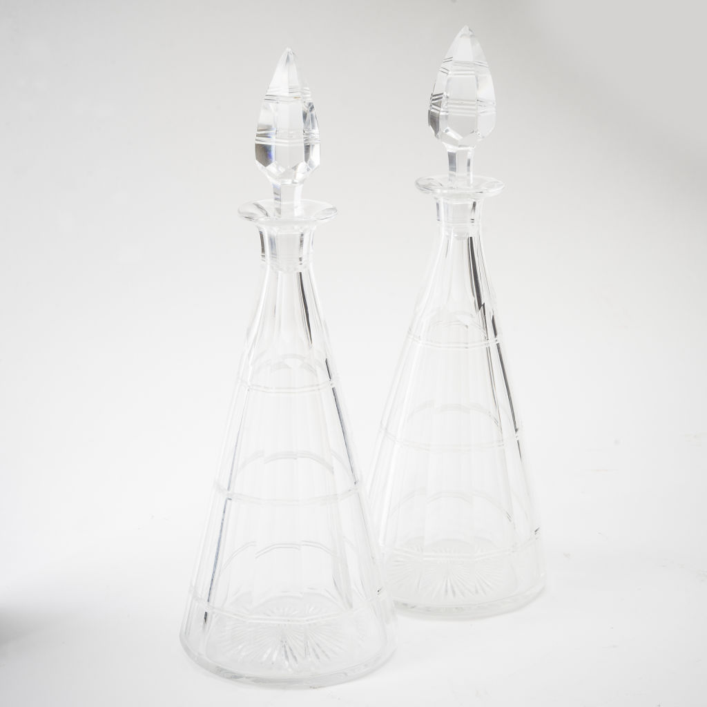 Pair Conical Decanters