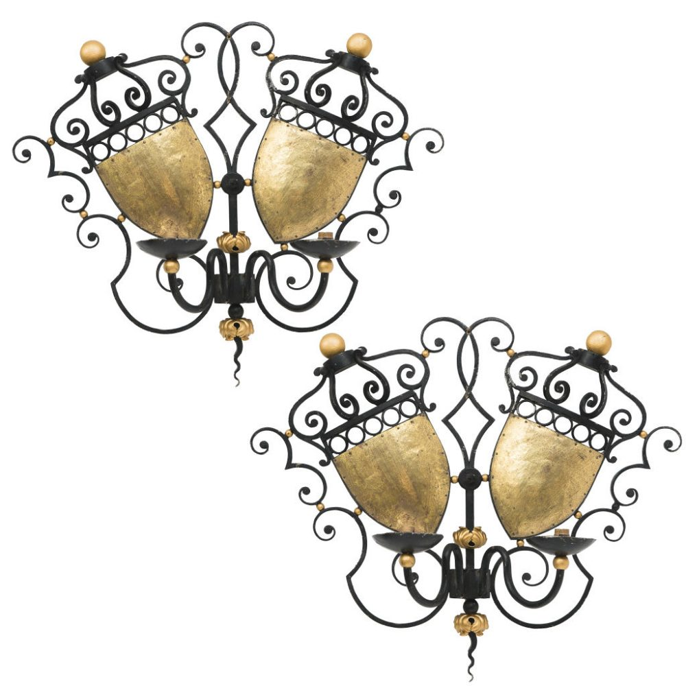 French Wrought Iron 50s Sconces