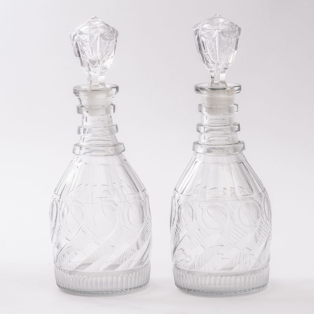 Pair William IV Decanters
