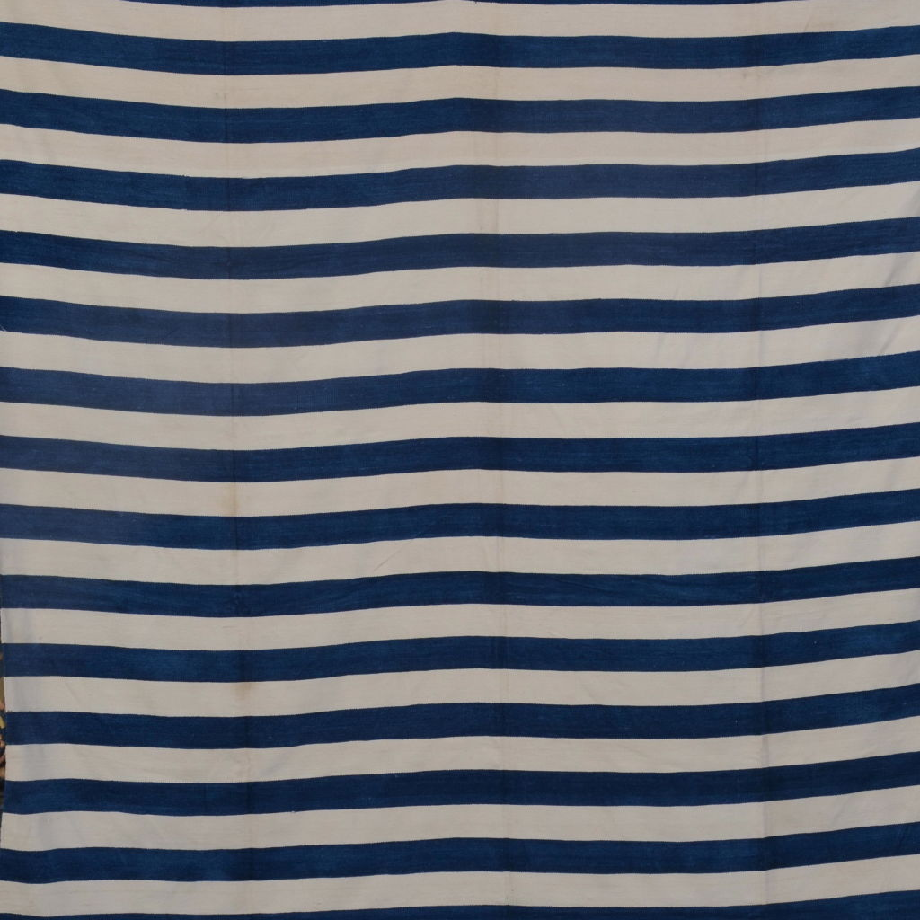 Blue and White Dhurrie Throw