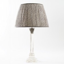 Silver top Column lamp