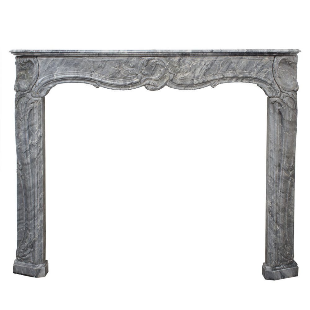 French Louis XV Marble Fireplace