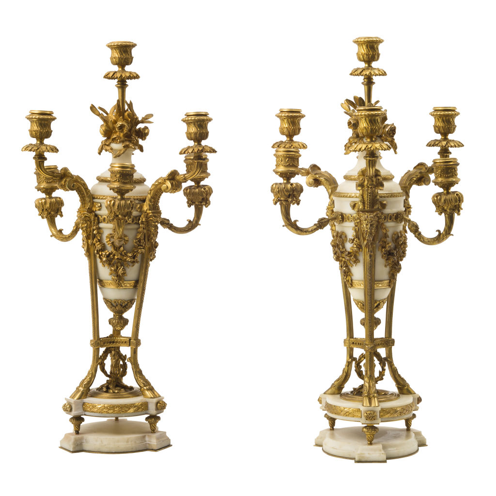 Pair French Neo-Classical Candelabra
