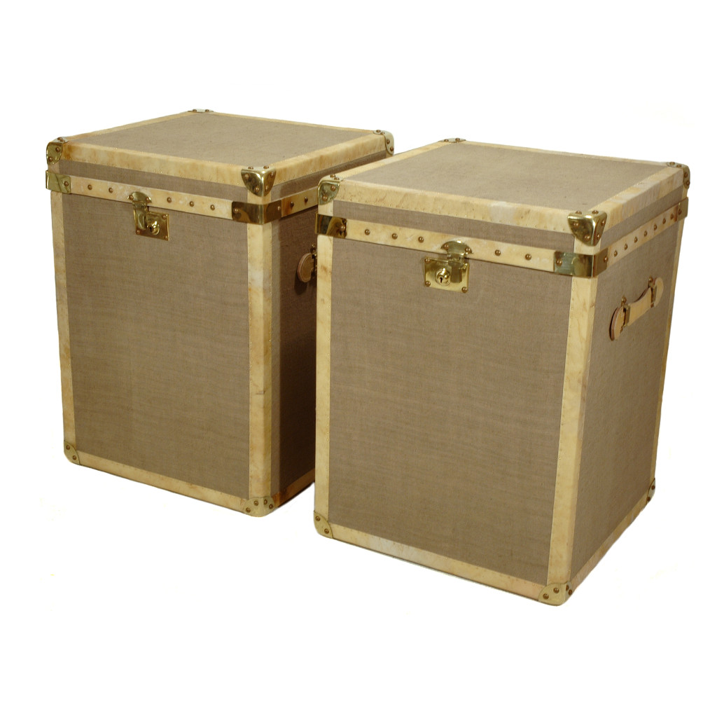 Bespoke Linen Covered Trunks