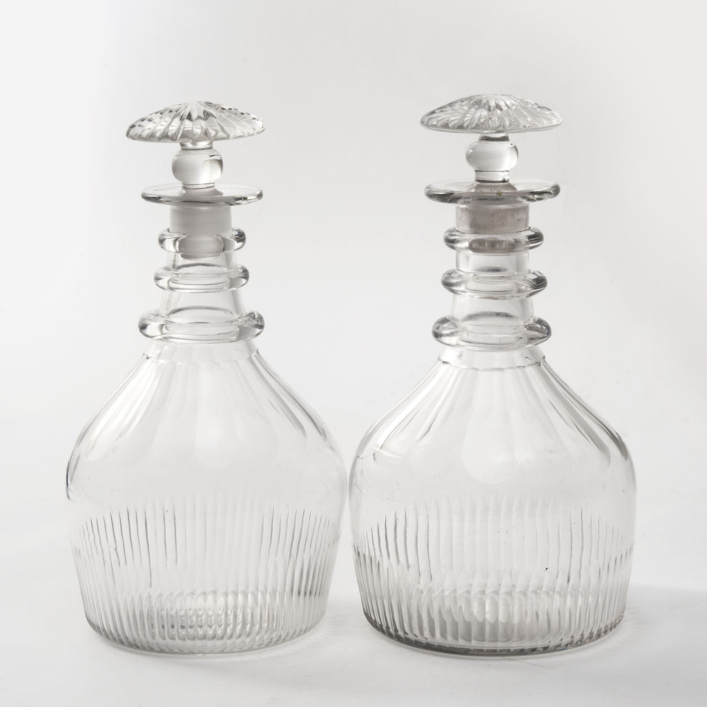 Georgian Triple Neck Decanters