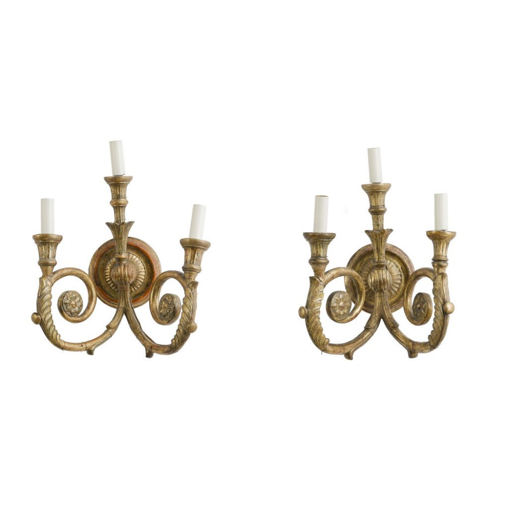 Edwardian Giltwood Sconces