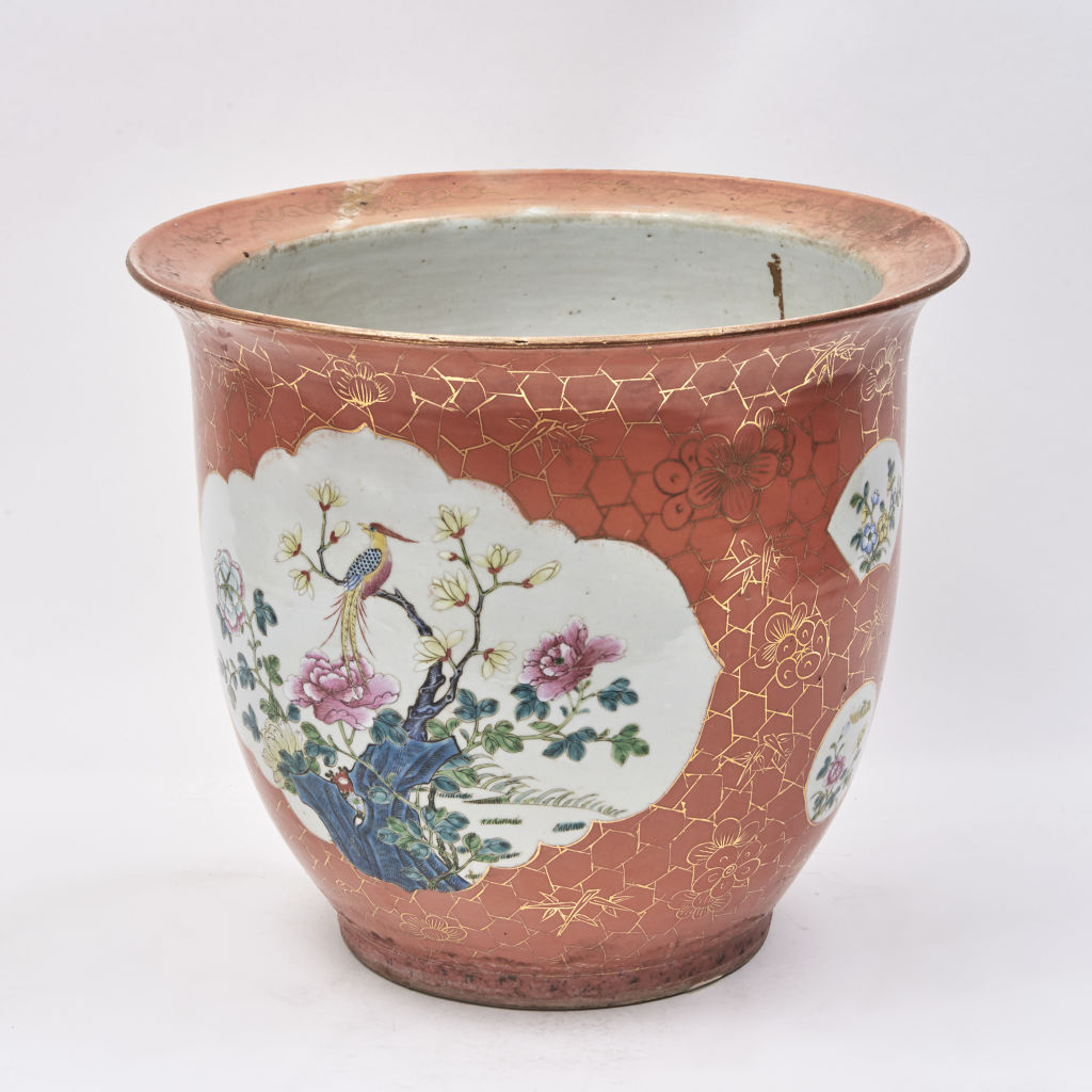 Chinese Orange Glaze Planter