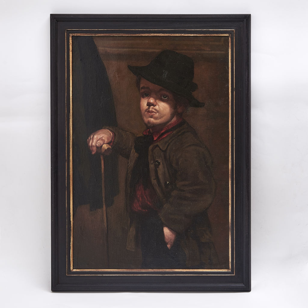 Velazquez style Oil Painting of Dwarf