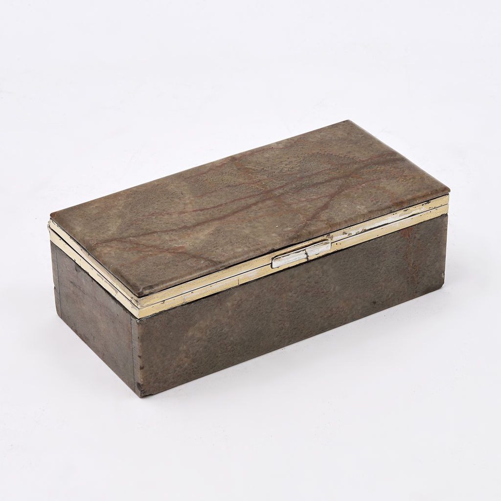 English Fluorspar Cigarette Box