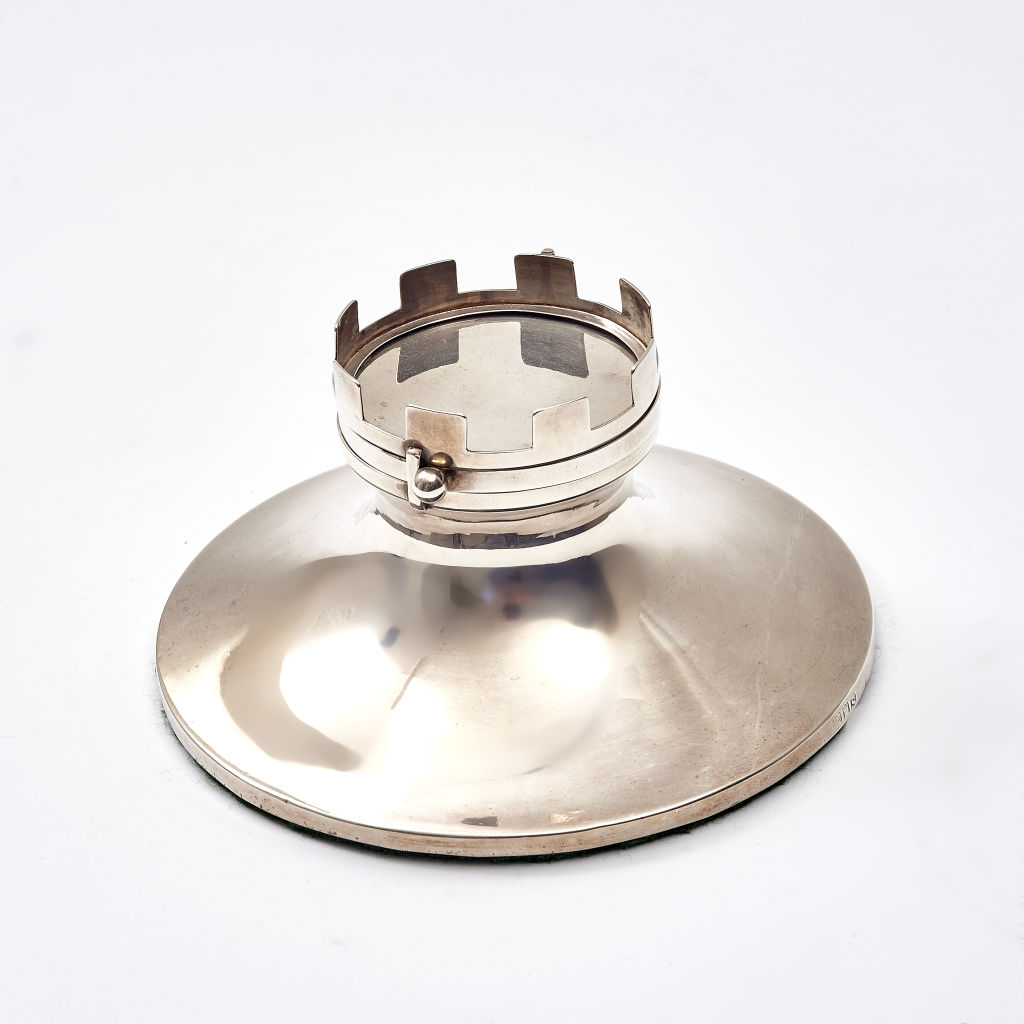 Silver Novelty Inkwell