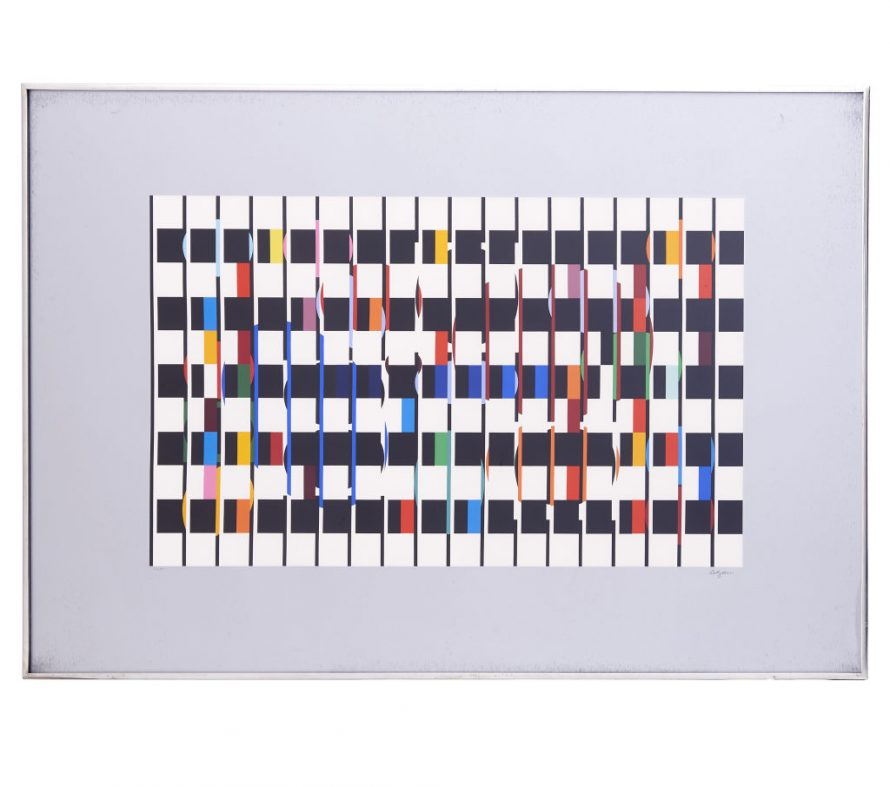 """Yaacov Agam """"One and Another 2"""""""