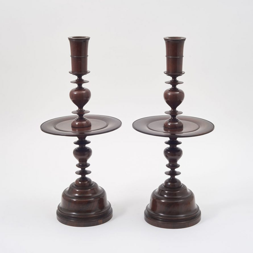 Colonial Rosewood Candlesticks