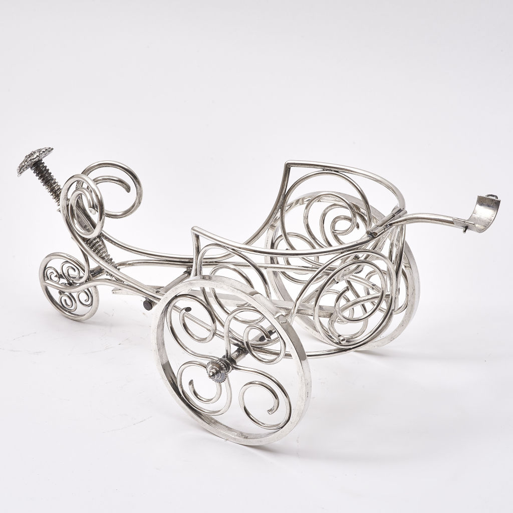 Silver Plate Bottle Carriage