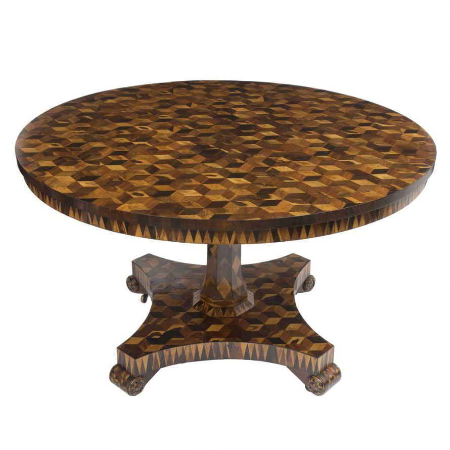 Cubist Parquetry Table