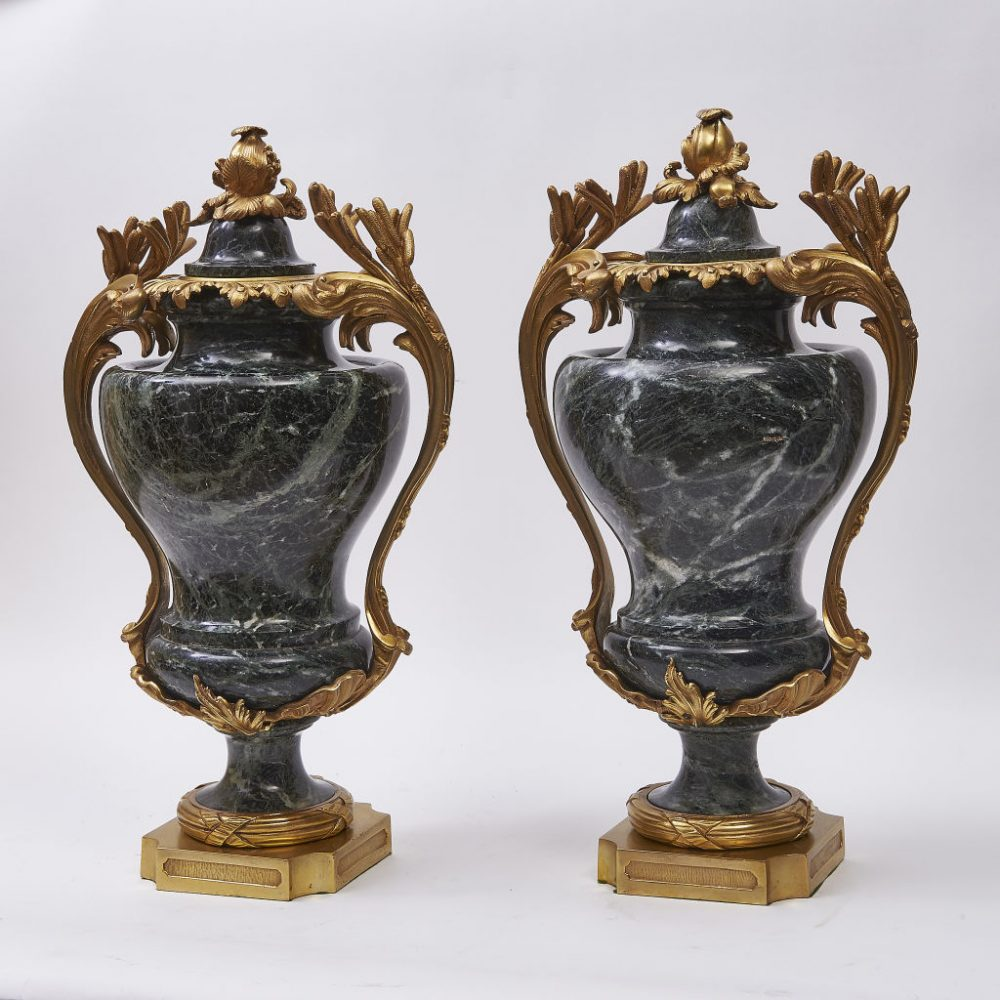 French Napoleon III Marble Cassolettes