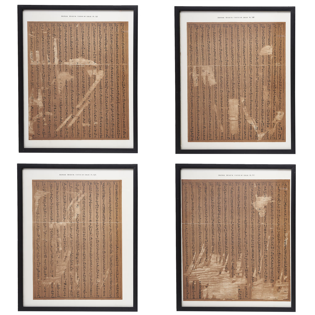 Set of 4 Hieroglyphic Prints