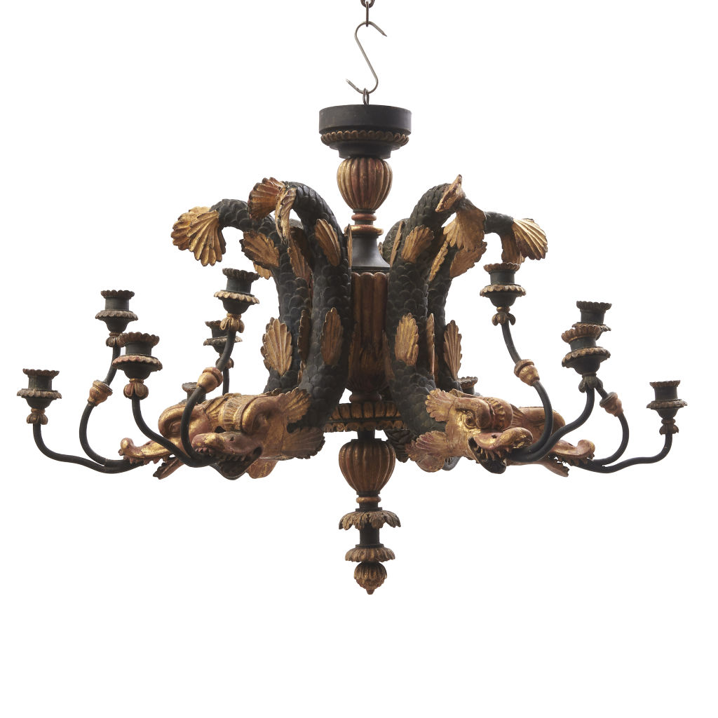 Austrian Carved Chandelier