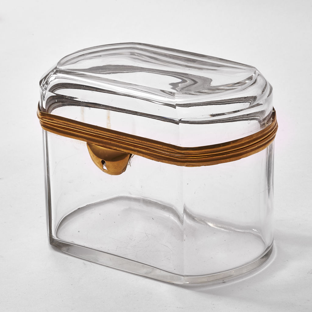 Clear Glass Bohemian Casket