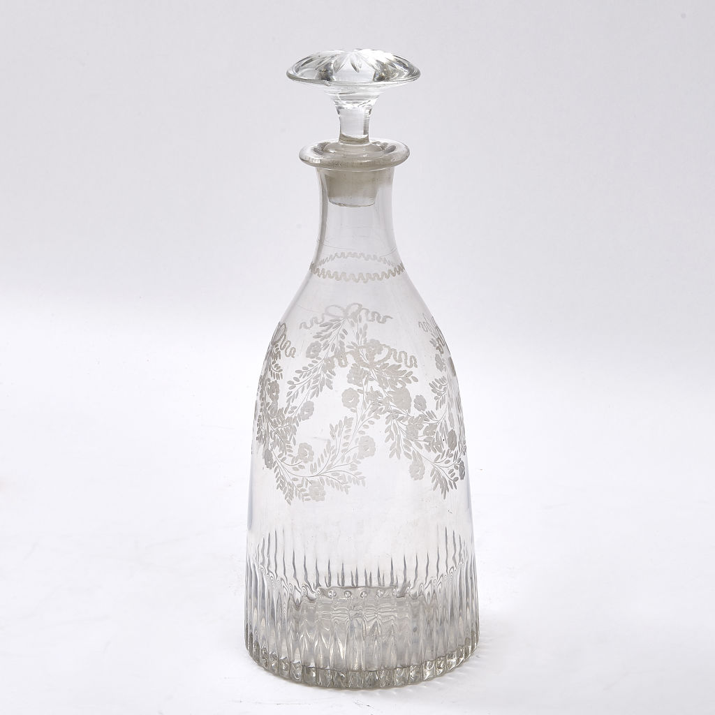 French Floral Magnum Decanter