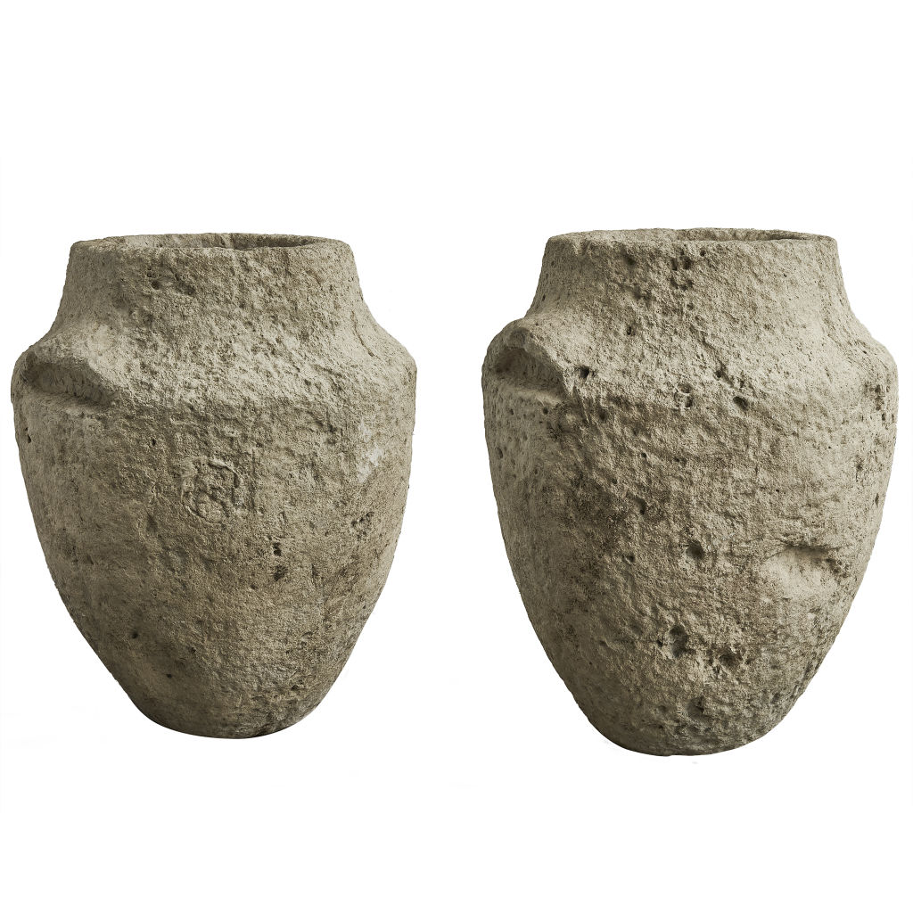 Pair Cotswold Stone Urns