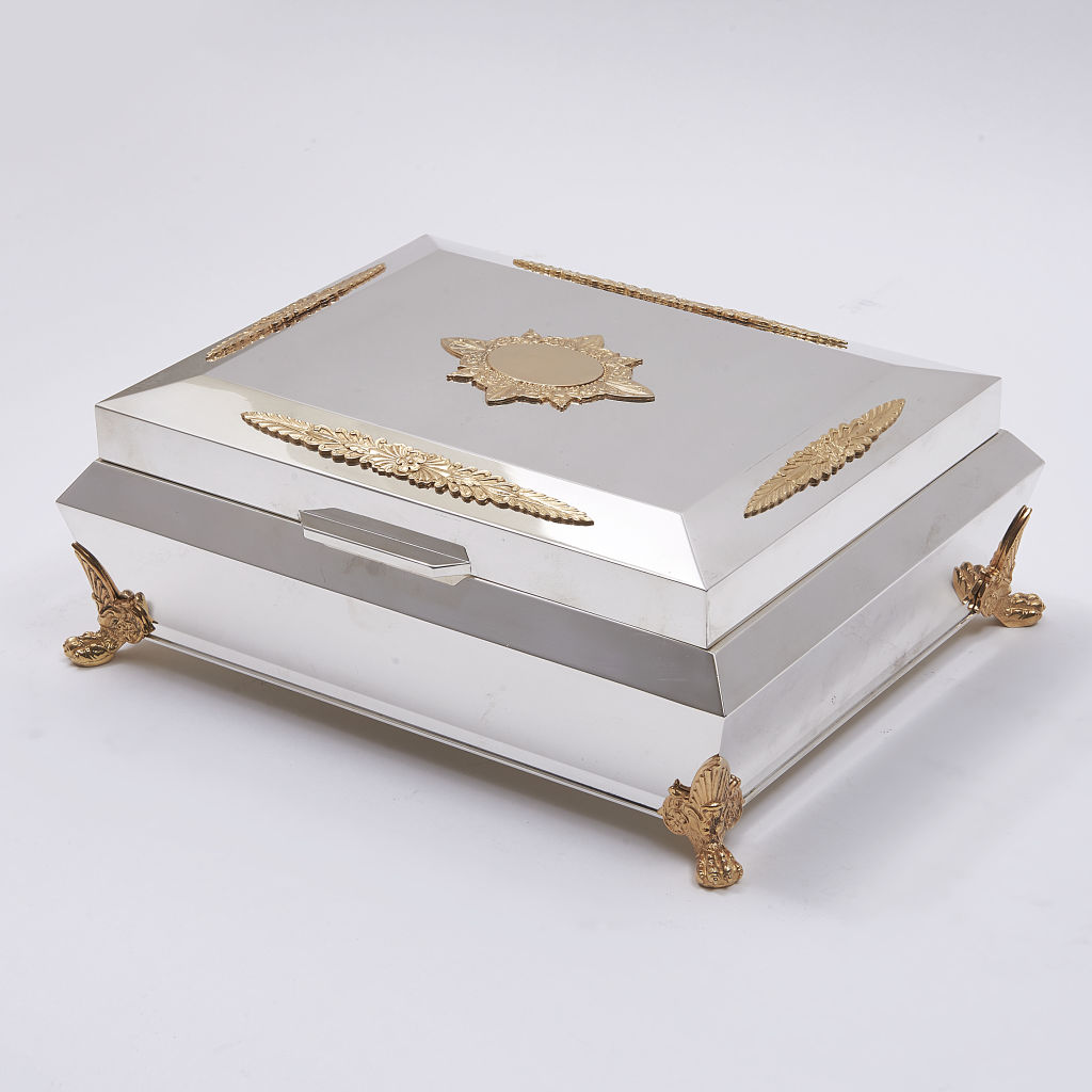 Large Silver Plate Jewellery Box