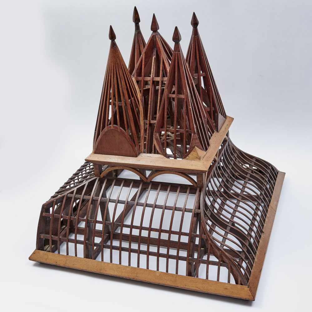 French Fruitwood Model Roof