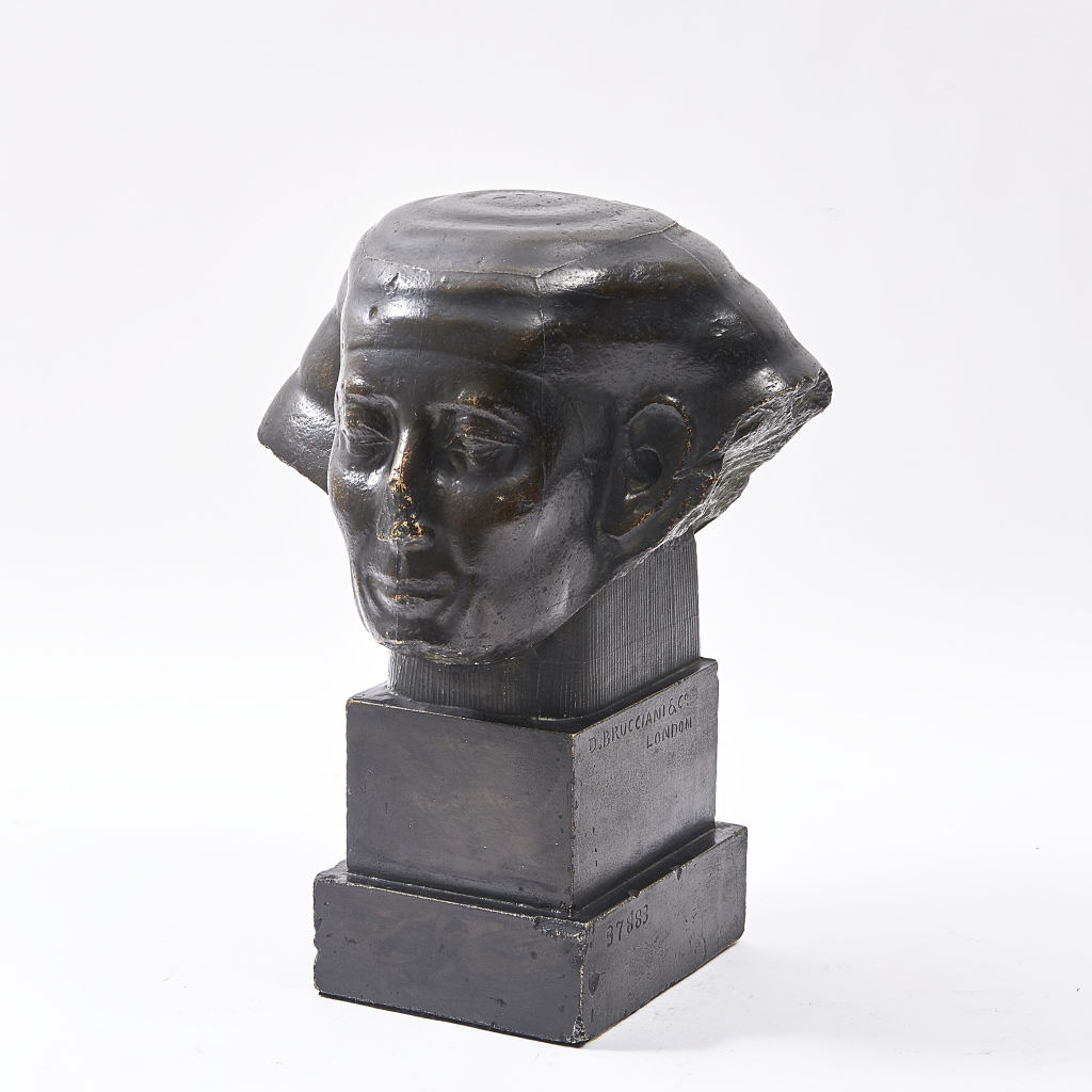 Egyptian Official Patinated Plaster Bust