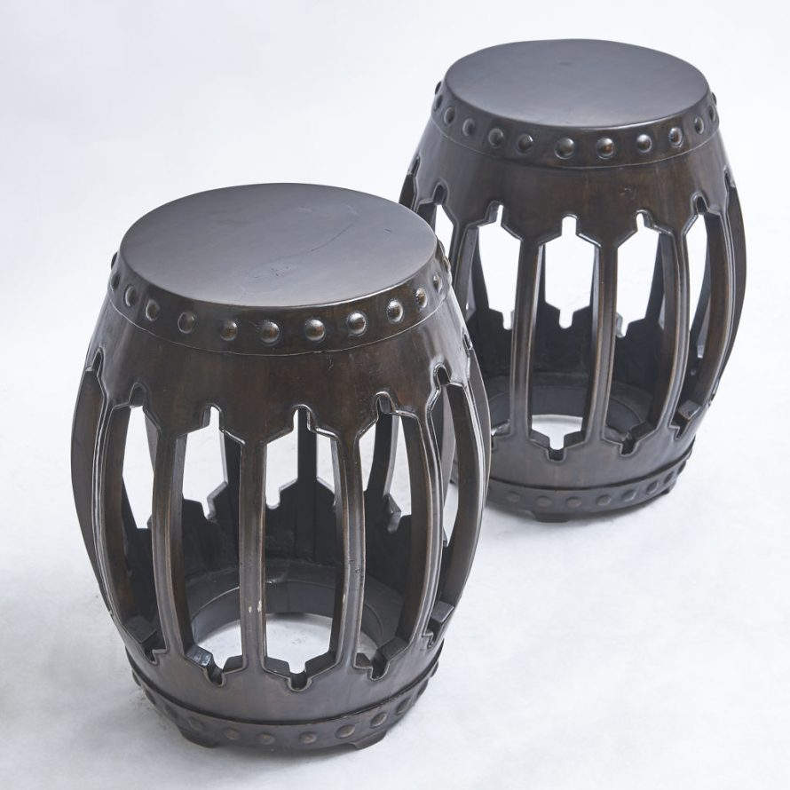 Chinese Lacquered Stools