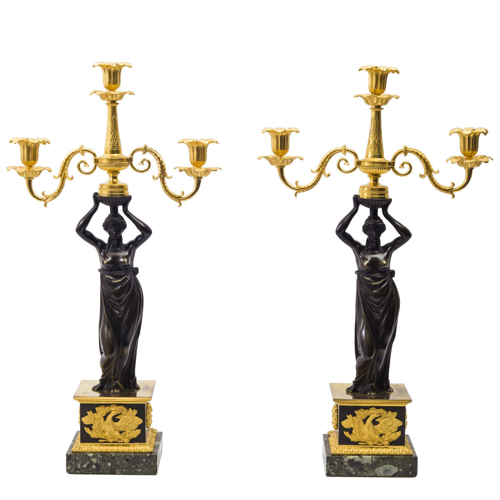 Pair Regency Candelabra