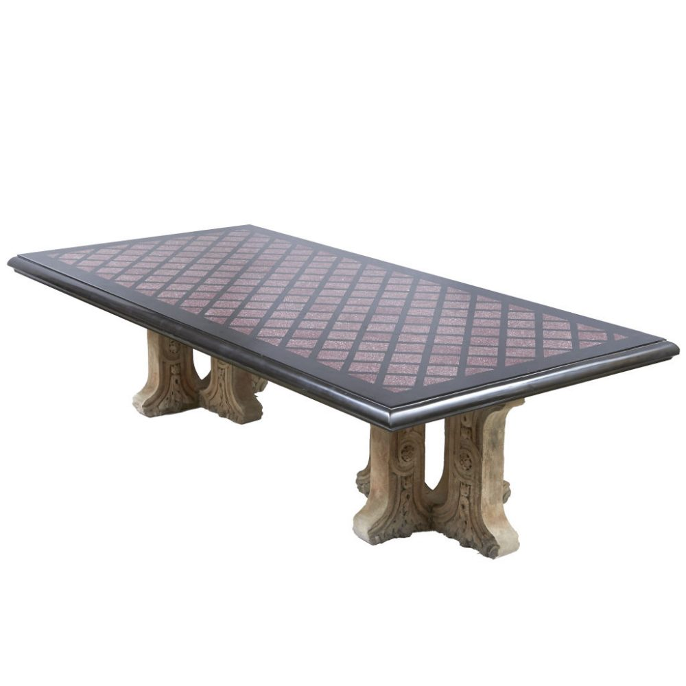 Large Grand Tour Style Marble Table